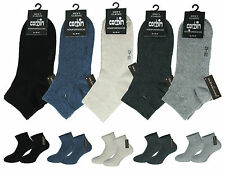 Short Socks Quarter Socks For Men 6pc Pack Eco-Tex No Rubber And Hand-Stitching