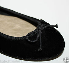 Gap NWT Women's 6 8 9 Black Velvet Ballet Flats Shoes