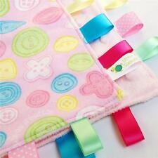 CUTE AS A BUTTON ~ Baby Security  Blanket Toy + FREE Dummy/Taggie/Sophie Saver