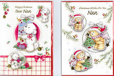 Nan Christmas Card. Available In Various Designs. FREE P&P