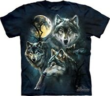 Moon Wolves Collage Kids T-Shirt from The Mountain. Boy Girl Child Sizes NEW