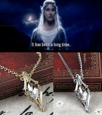 Souvenir The hobbit Phial Of Galadriel Crystal Necklace Lord of The Rings
