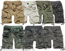 Brandit Deluxe Cargo Shorts Vintage Mens Army Style With Removable Belt