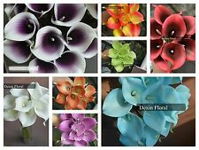36PCS Real/Natural Touch Calla Lily Wedding Bridal Bouquets home decor flowers