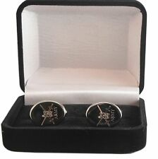 ARMY CREST ENGRAVED CUFFLINKS, GOLD OR SILVER NEW