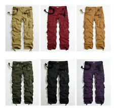 Womens Fashion Military Army Green Cargo Pocket Pants Casual Outdoor Trousers