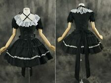 M-3104 S/M/L/XL/XXL schwarz weiß Gothic Lolita Cosplay Kleid dress Kostüm costu