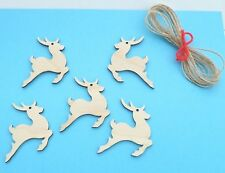 CHRISTMAS REINDEER WOODEN GIFT TAGS/ TREE DECORATIONS