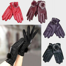 Fashion Women Winter Soft Leather Mitten Gloves Warm Driving Gift Special