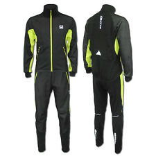 Men Cycling Wear Fleece Cycling Jersey Set-silicone mat-warm winter wind suit H8
