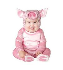 Lil Piggy Pink Costume Baby Animal Infant Halloween Unisex Boy Girl 6-24 months