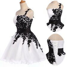 2014 Homecoming Applique Short Mini Gowns Prom Evening Quinceanera Party Dress