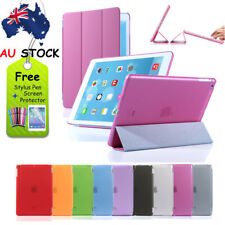 Magnetic Smart Leather Cover + Back Case for iPad 2 - iPad 3 - iPad 4 + Stylus