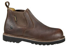 """Mens Carhartt 4"""" Twin Gore Leather Boots Wide Non-Safety (E,W) Brown CMS4100"""