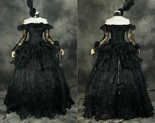 H-331 S/M/L/XL/XXL black Victorian Gothic Cosplay Kleid dress Kostüm costume