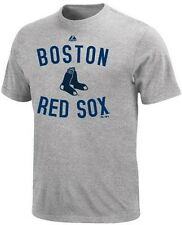 Boston Red Sox MLB Majestic Authentic Edge Gray Tee Shirt Big And Tall Sizes