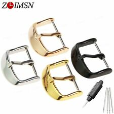 16 18 20 22mm New Solid Stainless Steel Polished Watch band Clasp Pin Buckle
