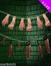 HALLOWEEN BLOODY GARLAND SCARY PARTY DECORATION HORRID SCARE GUEST SCENE SETTERS