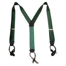 New CTM Mens Satin Elastic Button-End 1 1/2 Inch Suspenders (Tall Available)