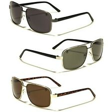 Square Retro 80s Aviator Sunglasses Mens Womens Metal Fashion Glasses Black Gold