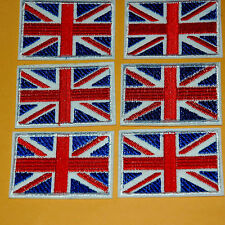 1 Union Jack Britain Uk Flag Iron on / Sew on Embroidered Badge Patch Sewing Diy