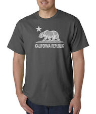 CLEARANCE California Republic State Flag Bear White Ink Cool Funny T-Shirt M