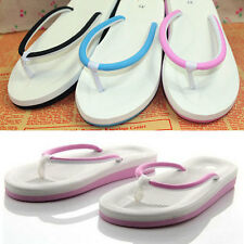 Women Men's Summer Slip On Flats Slippers T-Strap Flip Flops Sandals Shoes