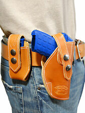NEW Barsony Tan Leather Holster + Mag Pouch Ruger Kimber Small 380 UltraCompact