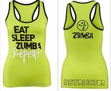 ZUMBA INSTRUCTOR'S RacerBack Top Shirt Tank HOT! SUPER RARE! fr.Convention S M L