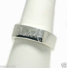Name Monogram Engraved Signet Ring, Sterling Silver, Uni-Sex, Size 6,7, 8, NEW