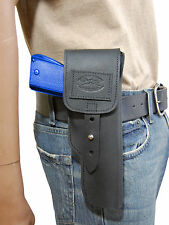 New Barsony Black Leather Flap Gun Holster Browning for Colt Full Size 9mm 40 45