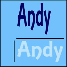 Andy Boys Name Wall Sticker -18x40cm Interior Home Vinyl Decal Decor Sign