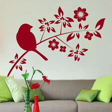BLACK BIRD PRETTY BIRD BRANCH WALL DECAL STICKER giant vinyl transfer car Bi27