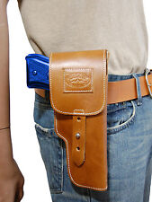 New Barsony Tan Leather Flap Gun Holster Browning for Colt Full Size 9mm 40 45