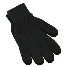 12 60 pairs  LOT UNISEX MEN WOMEN MAGIC WINTER SOLID BLACK WARM KNITTED GLOVES