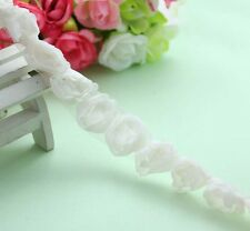 1Y/7Y Wholesale Beige 3D Rose Venise Lace Fabric Trim Craft Doll DIY L1699