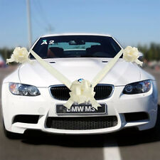 Ivory Wedding Car Decoration Kit Large Bows and 7 Metres of Ribbon 1 &3 & 5 Bows