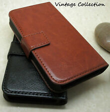 LUXURY VINTAGE LEATHER WALLET STAND CASE COVER FOR HTC MODELS