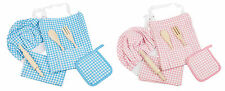 Eddingtons 7pc Children Kids Chef, Cooking, Baking Set In Blue Or Pink