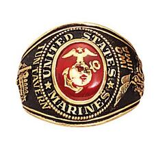 Military Ring - Marines Deluxe Engraved Made in US by Rothco