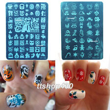 NEW for XMAS Halloween! Nail Art Image Stamp Stamping Plates Christmas Designs