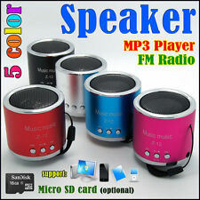 Mini ALTAVOZ + reproductor MP3 + radio FM + micro-SD (TF) (4, 8, 16GB) 5 color