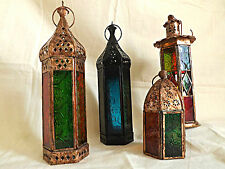 MOROCCAN STYLE LANTERN ~ RUSTIC TEA LIGHT HOLDERS ~ FREE TEALIGHTS ~
