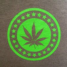 Potcoin marajuana shirt s-xl green cotton Gildan silkscreened weed short sleeve