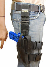 NEW Barsony Tactical Leg Holster w/Mag Pouch for Taurus Full Size 9mm 40 45