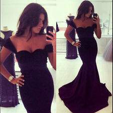Sexy Sleaveless Mermaid fishtail Evening Wedding Party Prom Gown Formal Dress