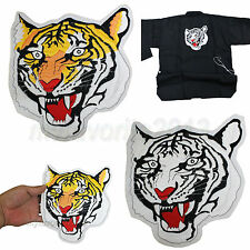 Tiger Head Patch L Size Embroidered 2 Types Martial Arts Uniform Back Decoration