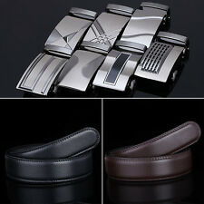 New Men's Belt Leather Strap Belts with Automatic Buckle