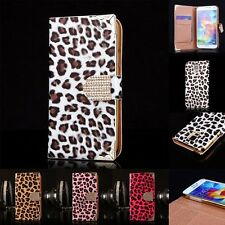 NEW Bling Leopard Leather Magnetic Flip Case Cover for Samsung Galaxy S5/S5 Neo
