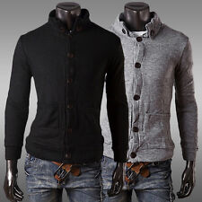 2014 Button Fashion Men Slim Fit Comfort Placket Knitting Jackets Coat Tops XS~L